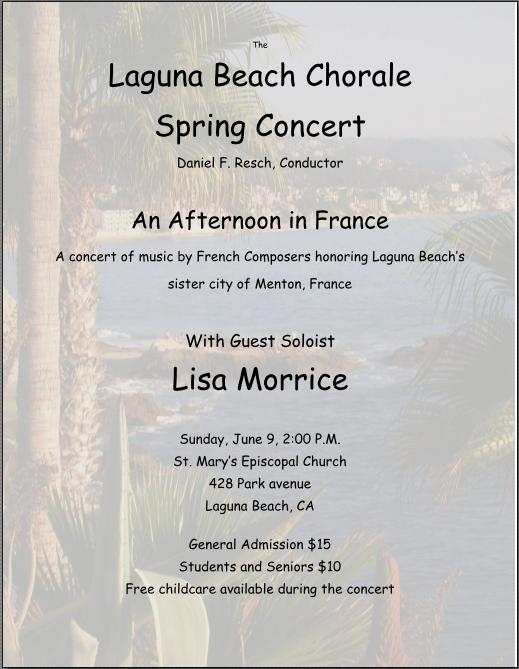 Spring 2013 concert flyer